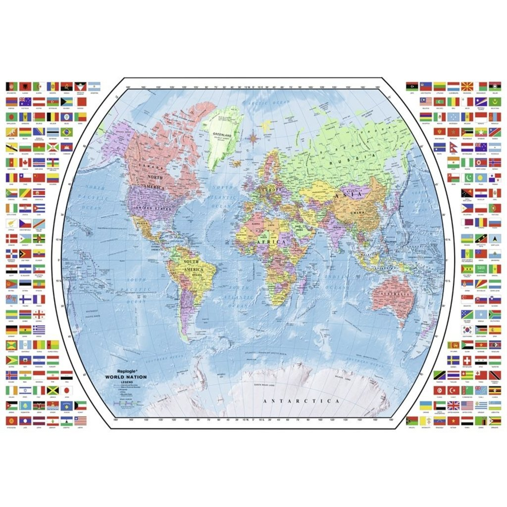 Ravensburger Carte du monde politique 1000pcs