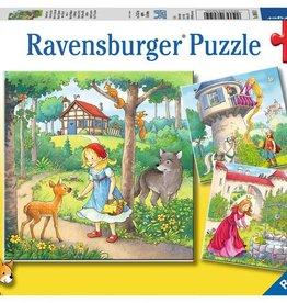 Ravensburger Raiponce, Le petit chaperon rouge, La princesse et la grenouille 3 x 49 pcs