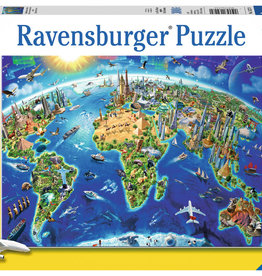 Ravensburger Carte des monuments du monde 300 pcs