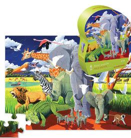 Crocodile Creek Puzzle de plancher Wild Safari - 36 pièces