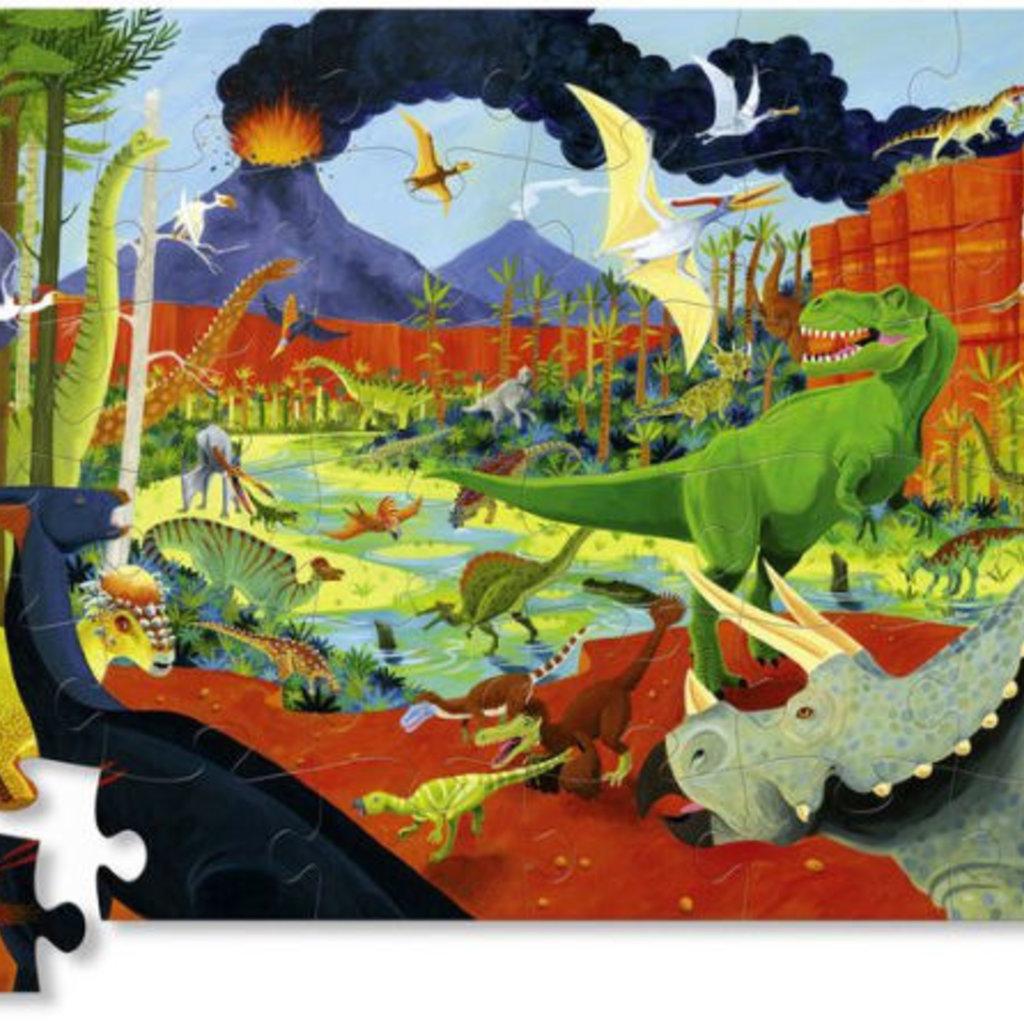 Crocodile Creek Puzzle de plancher - Dinosaure - 36 pcs