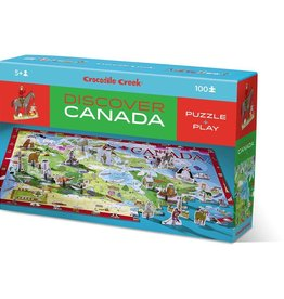 Crocodile Creek Découverte Canada - Casse-tête 100 pcs et jeu