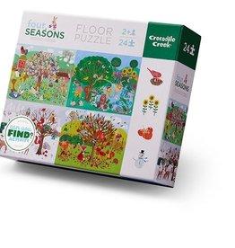 Crocodile Creek Early Learning - Four seasons - Casse-tête 24 pcs