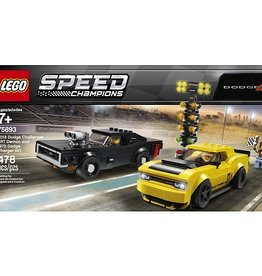 Lego Speed Champions 75893 - Dadge Challenger SRT Demon 2018 et Dodge Charger R/T 1970pions 75893- Dodge Challenger SRT Demon 2018 et Dodge Charger R/T 1970