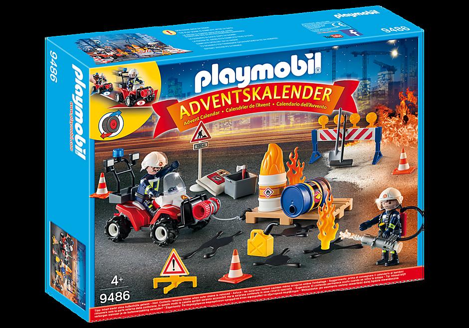 Calendrier De L Avent Spiderman.Playmobil 9486 Calendrier De L Avent Pompiers Et Incendie De Chantier