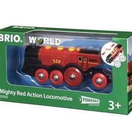 Brio Locomotive rouge puissante à piles