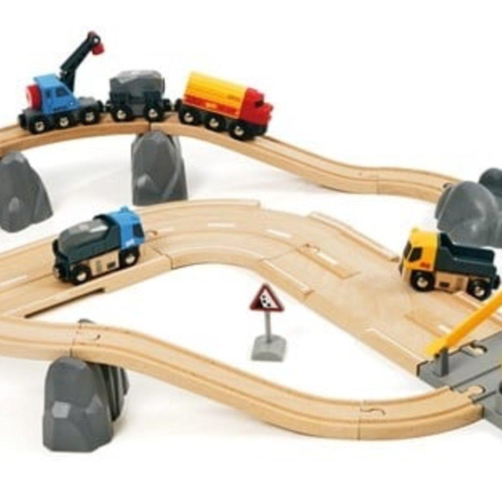 Brio Circuit rail route transport de roches