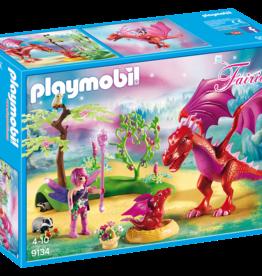 Playmobil 9134 Gardienne des fées avec dragons