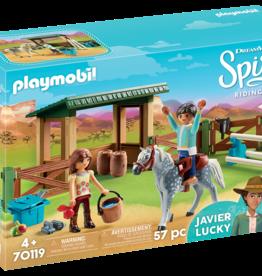 Playmobil 70119 Espace d'entrainement avec Lucky et Javier