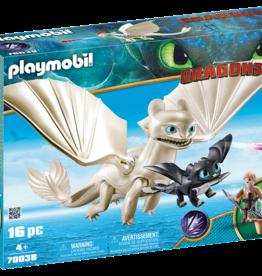 Playmobil 70038 Furie Éclair et bébé dragon avec enfants