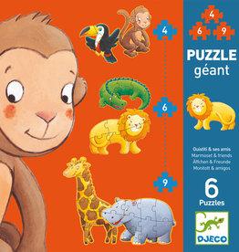 Djeco Puzzle géant Ouistiti et ses amis