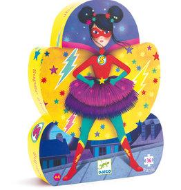 Djeco Puzzle silhouette Super star