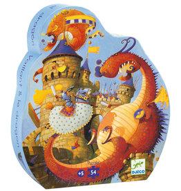 Djeco Puzzle silhouette Vaillant et les dragons
