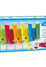 Djeco 6 tubes de peinture a doigts