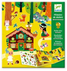 Djeco Histoires de stickers La foret magique