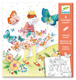 Djeco Coloriages surprises Lady Butterfly
