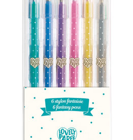 Djeco 6 crayons gel paillettes