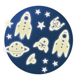 Djeco Décors phosphorescents Mission spatiale