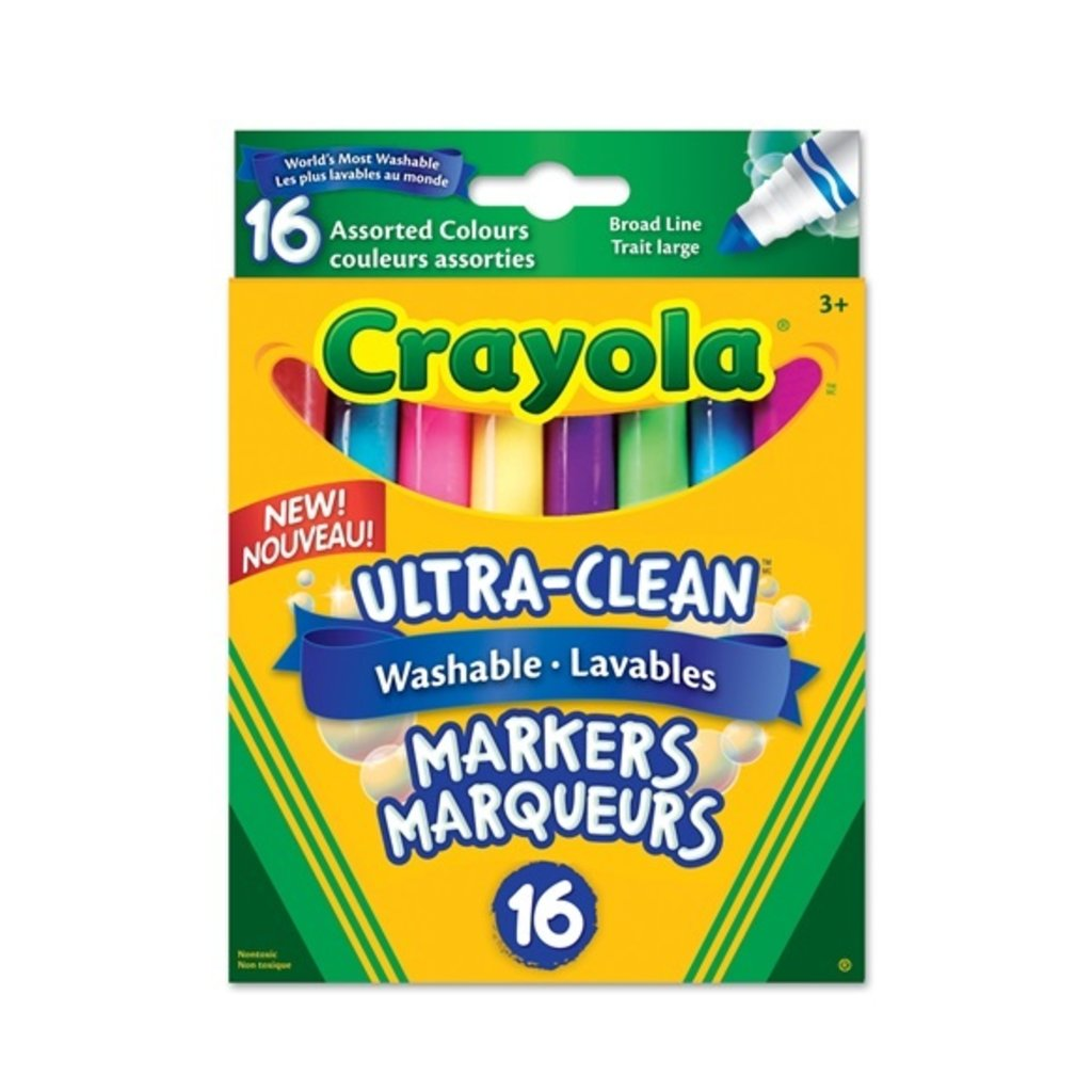 Crayola 16 marqueurs trait large