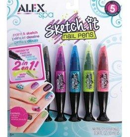 Alex Alex- Spa crayons pour ongles- couleurs Hot