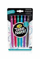 Crayola 6 stylos gel lavable Take note