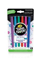 Crayola 6 stylos a pointe feutrée take note