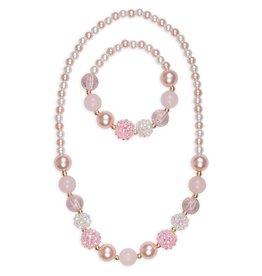 Great Pretenders Ensemble de collier et bracelet perles roses