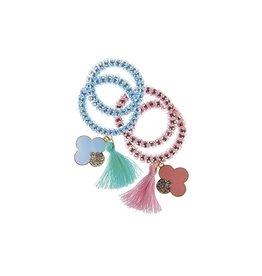 Great Pretenders Élastiques à cheveux rose et bleu avec pompons
