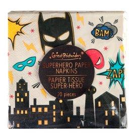 Great Pretenders Ensemble de 20 serviettes de super-héros