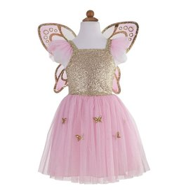 Great Pretenders Robe papillon avec ailes or taille 5-7