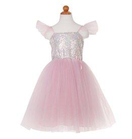 Great Pretenders Robe de princesse argent à paillettes taille 5-6