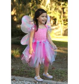 Great Pretenders Robe papillon rose avec ailes et baguette taille 5-6