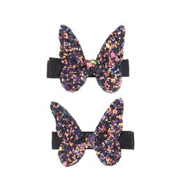 Great Pretenders Ensemble de 2 barrettes papillon brillants