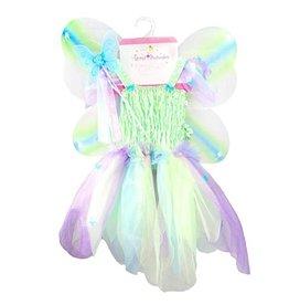 Great Pretenders Robe papillon verte avec ailes et baguette taille 5-6