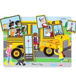 Melissa & Doug Puzzle sonore-Les roues du bus