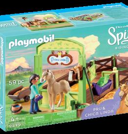 Playmobil Dreamworks Spirit 9479 Apo et Chica Linda avec box