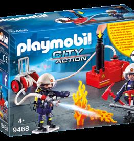 Playmobil City Action 9468 Pompiers avec matériel d'incendie