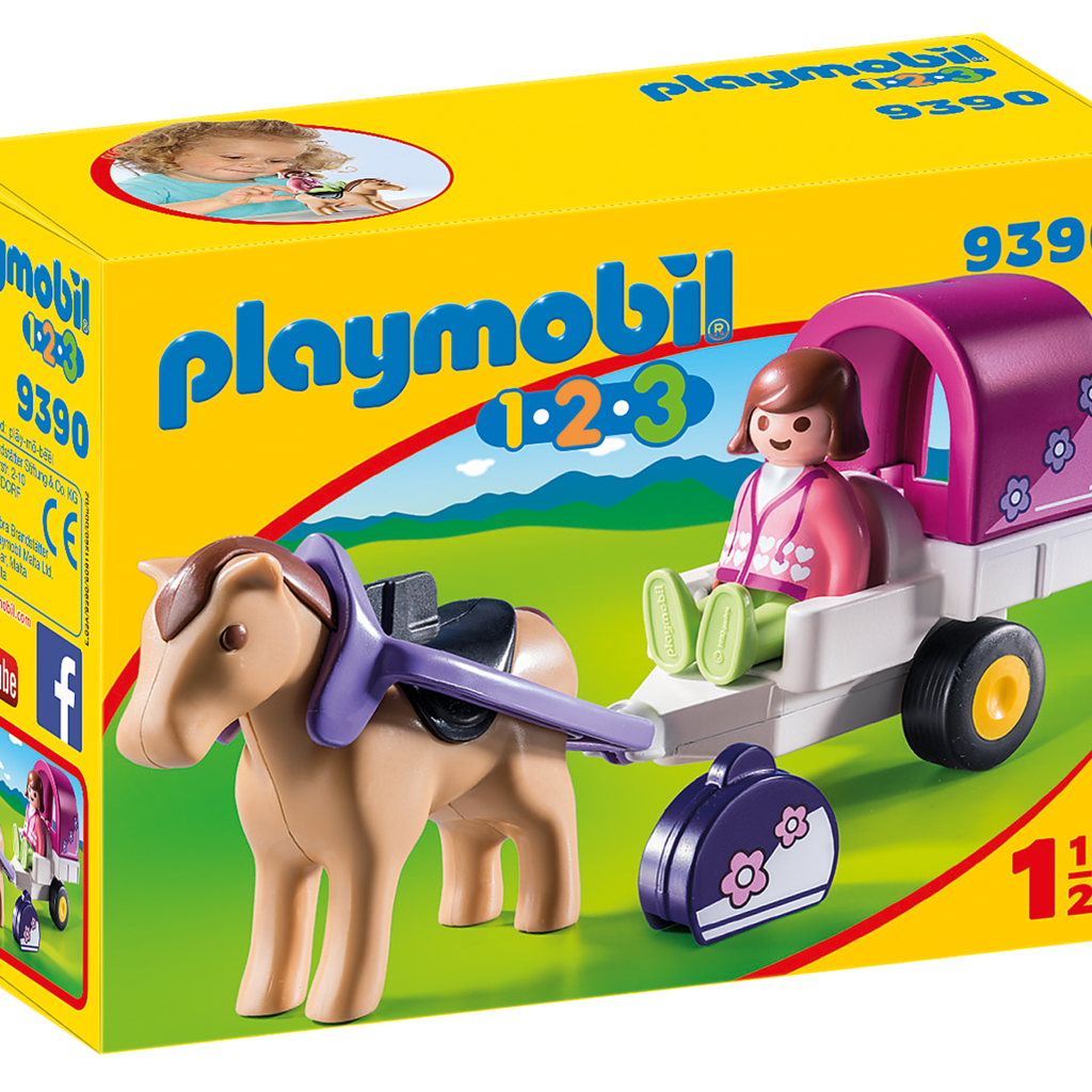 Calendrier De Lavent Playmobil Chevaux.Playmobil 9390 Carriole Avec Cheval