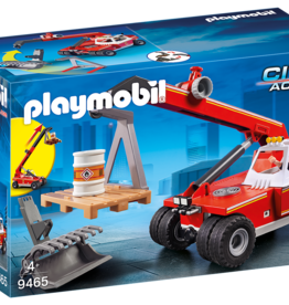 Playmobil 9465 Pompier avec véhicule et bras télescopique