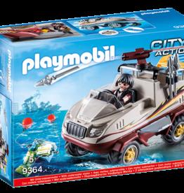 Playmobil 9364 Véhicule amphibien et bandit