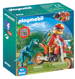 Playmobil 9431 Pilote de moto et raptor