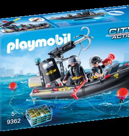 Playmobil 9362 Bateau pneumatique et policiers d'élite