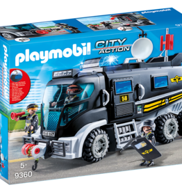 Playmobil 9360 Camion des policiers d'élite avec sirène et gyrophare