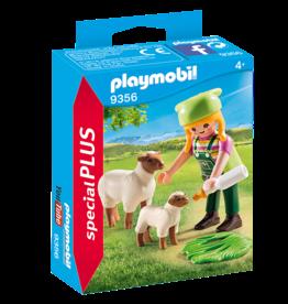 Playmobil 9356 Fermière avec moutons