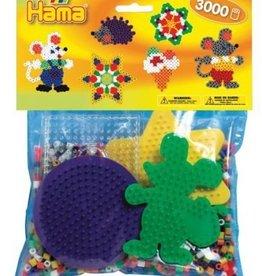 Hama Ensemble 3000 perles et 4 plaques souris