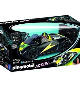 Playmobil Action 9089 Voiture de course noire radiocommandée