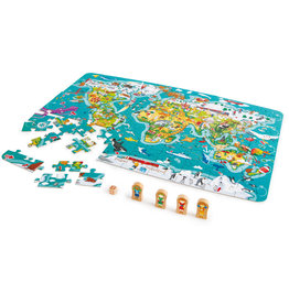 Hape Casse-tête carte du monde 105 pcs