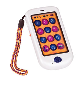 Battat Toys B-Lively- Téléphone tactile Hiphone blanc