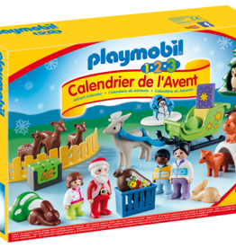 Playmobil 9391 Calendrier de l'Avent 1.2.3 - Père Noel et animaux de la foret