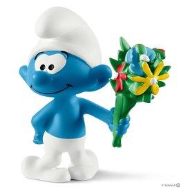 Schleich 20798 Schtroumpf avec bouquet de fleurs